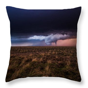 Texas Tornado Throw Pillow