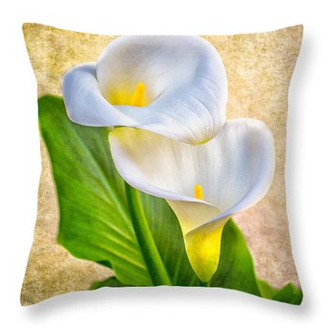Textured Calla Lilies Throw Pillow