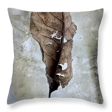 Textured Leaf Throw Pillow by Bernard Jaubert