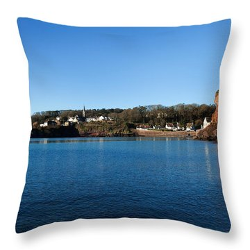 Thatched Cottages, Dunmore Strand Throw Pillow