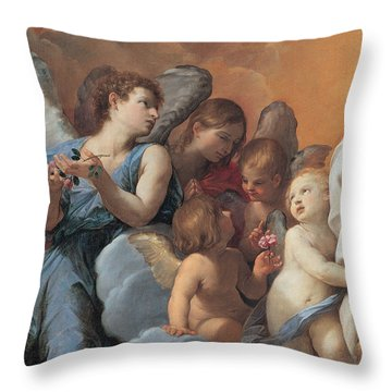 The Assumption Of The Virgin Mary Throw Pillow by Guido Reni