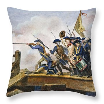 The Battle Of Concord, 1775 Throw Pillow by Granger