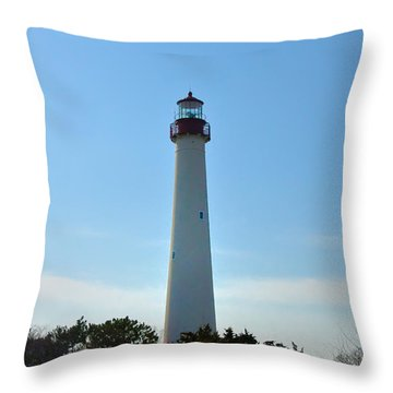 The Beacon Of Cape May Throw Pillow by Bill Cannon