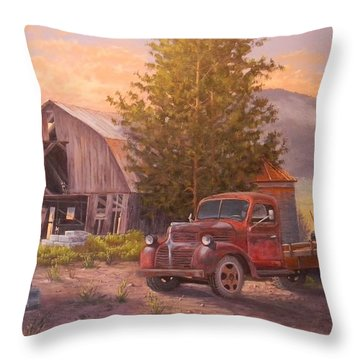 The Beekeepers Barn Throw Pillow