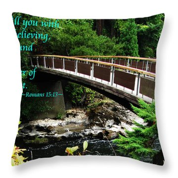 The Bible Romans 15 13 Throw Pillow