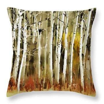 The Birches Throw Pillow