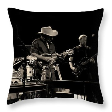 The Black Lillies Throw Pillow