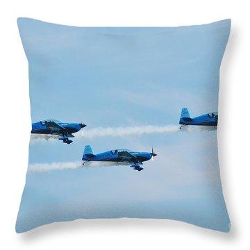 The Blades Aerobatic Team Throw Pillow