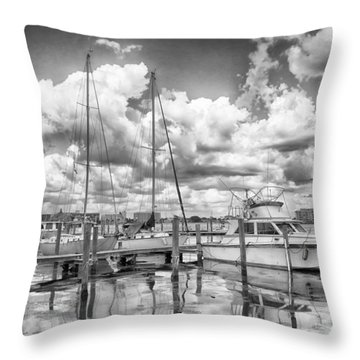 The Boat Throw Pillow by Howard Salmon