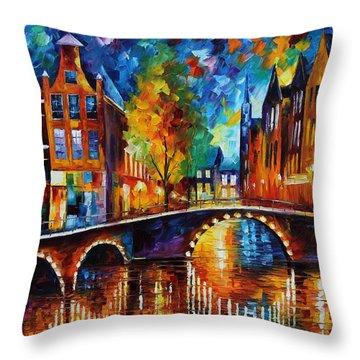 The Bridges Of Amsterdam Throw Pillow