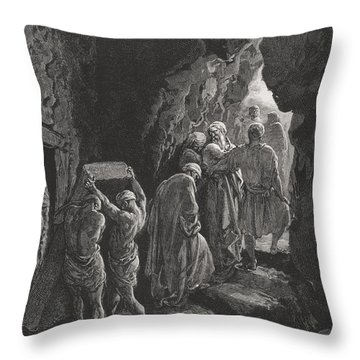 The Burial Of Sarah Throw Pillow by Gustave Dore