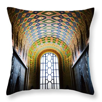 The Cathedral Of Finance Throw Pillow