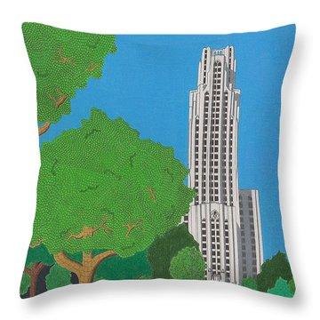 The Cathedral Of Learning Throw Pillow