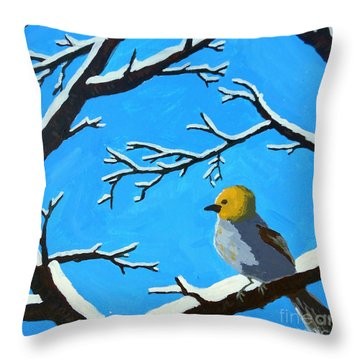 The Chilly Verdin Throw Pillow