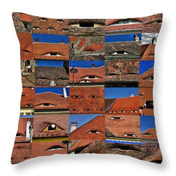 The City's Eyes Sibiu Hermannstadt Romania Throw Pillow