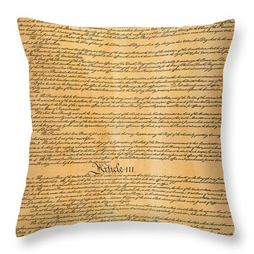 The Constitution, 1787 Throw Pillow by Granger
