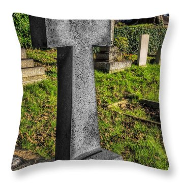 The Cross Throw Pillow by Adrian Evans