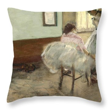 The Dance Lesson Throw Pillow by Mountain Dreams