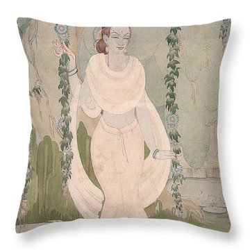 The Divine Beauty Throw Pillow
