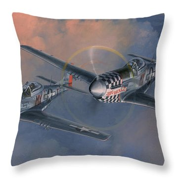 The Duxford Boys Throw Pillow by Wade Meyers