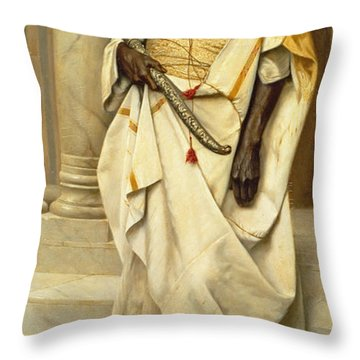The Emir Throw Pillow by Ludwig Deutsch