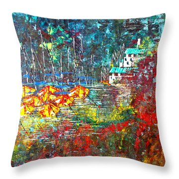Beach House Throw Pillow by George Riney