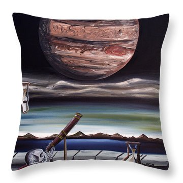 Throw Pillow featuring the painting The Eternal Staring Contest by Ryan Demaree