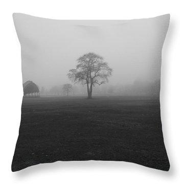 The Fog Tree Throw Pillow