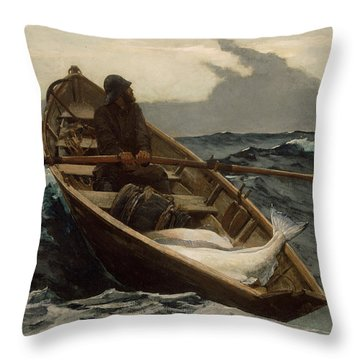 The Fog Warning Throw Pillow
