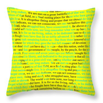 The Gettysburg Address Throw Pillow