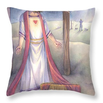 The Gift Of Hope Throw Pillow by Sara Burrier