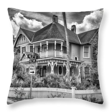 The Gingerbread House Throw Pillow by Howard Salmon