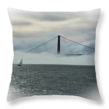 The Golden Gate Throw Pillow by Judy  Johnson