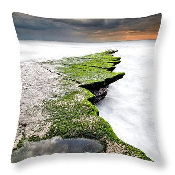 The Green Path Throw Pillow