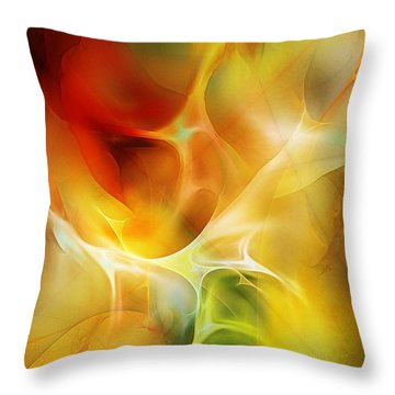 Throw Pillow featuring the digital art The Heart Of The Matter by David Lane