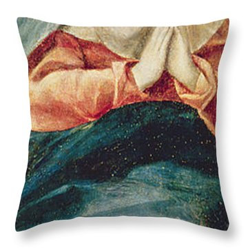 The Immaculate Conception  Throw Pillow by El Greco Domenico Theotocopuli
