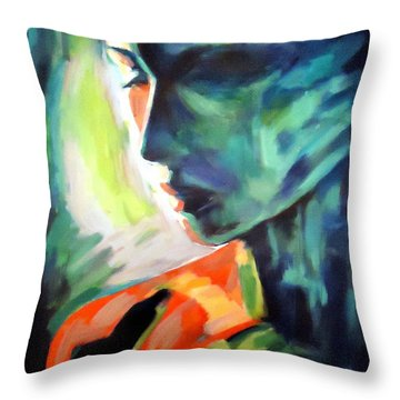 The Invisible Visible Throw Pillow by Helena Wierzbicki