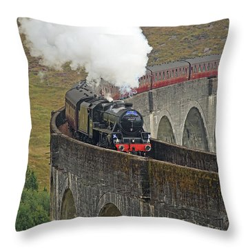 The Jacobite Steam Train Throw Pillow