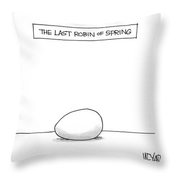 The Last Robin Of Spring Throw Pillow