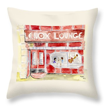 The Lenox Lounge Throw Pillow