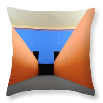 The Long Hall Throw Pillow by Ross Odom