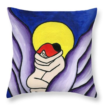 Throw Pillow featuring the painting The Lovers by Roz Abellera Art