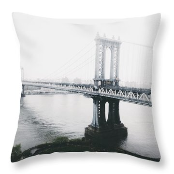 The Manhattan Bridge Throw Pillow