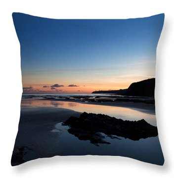 The Metal Man On Newtown Head, Tramore Throw Pillow
