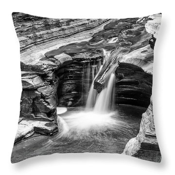 The Narrows Watkins Glen Throw Pillow