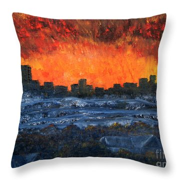 The Night The Lights Went Out Throw Pillow