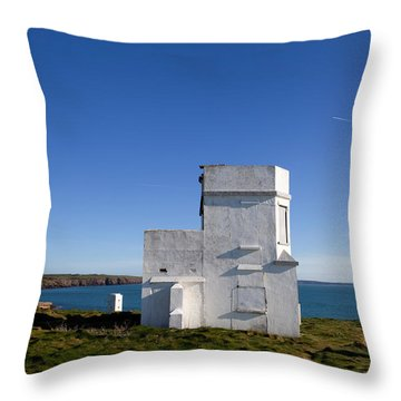 The Old Coastguard Station, Dunmore Throw Pillow