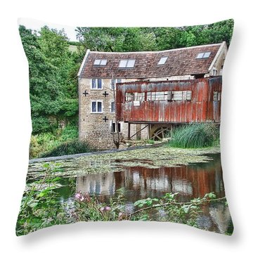 The Old Mill Avoncliff Throw Pillow