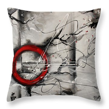 Throw Pillow featuring the painting The Power From Within by Patricia Lintner