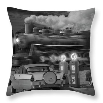 The Pumps Throw Pillow by Mike McGlothlen